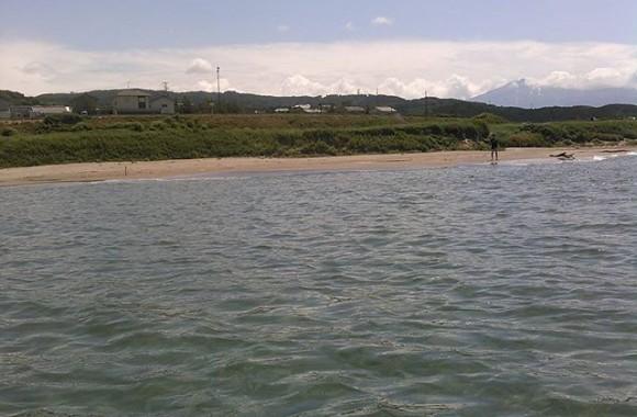ほぼ貸し切りな遠浅ビーチ!ちょっとしたリゾート地ですわ。(お盆に海に入ってる事は置いといて)