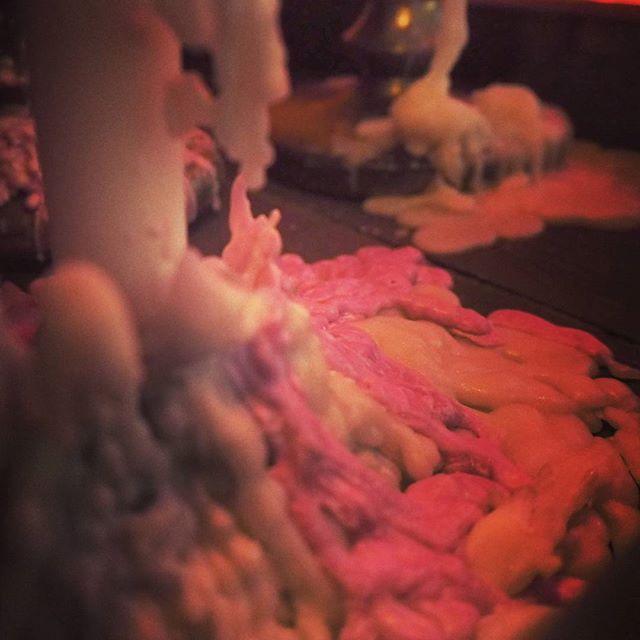 溶けたのに継ぎ足しまくった結果。 #candle #candles #candlelight #キャンドル #wax #relaxing #dark