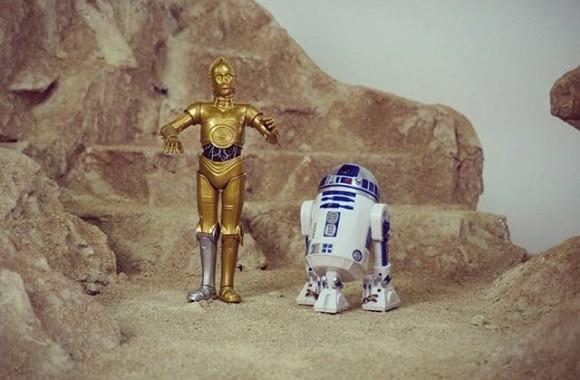 1/10 C3PO&R2D2 #miniature #handmade #ミニチュア #figure #クラフト #ジオラマ #diorama #scalemodel #toys #model #gundam #modeling #toyslagram #scalemodels #art #yoda #starwars #geek  #force