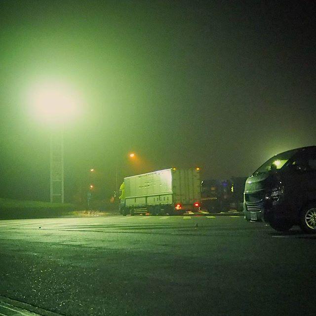霧地獄@長野あと200㎞位か..がんばろー