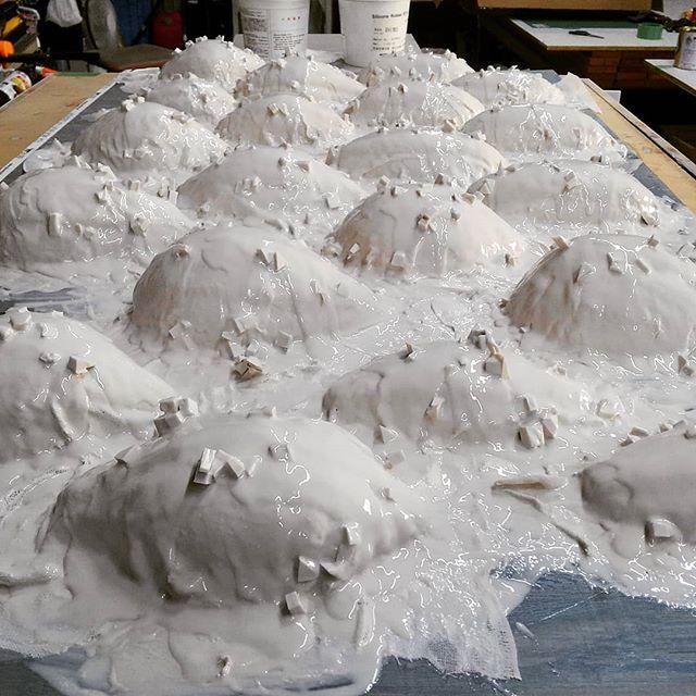 シリコン積層おわり!#artworks #artstudio #craft #cake #silicone