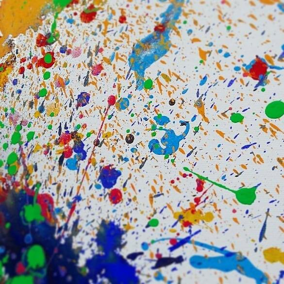 えのぐあそび#art #canvas #paint