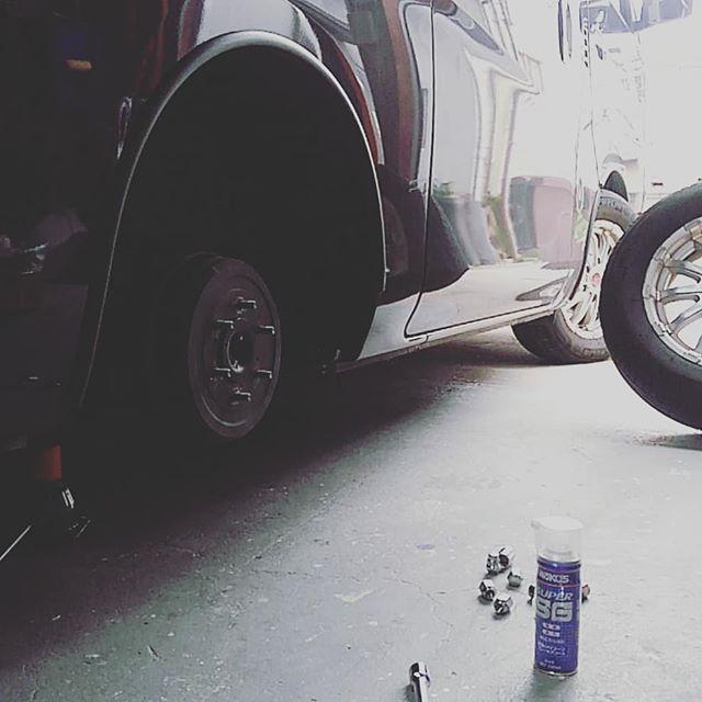 ブレーキのメンテナンス。