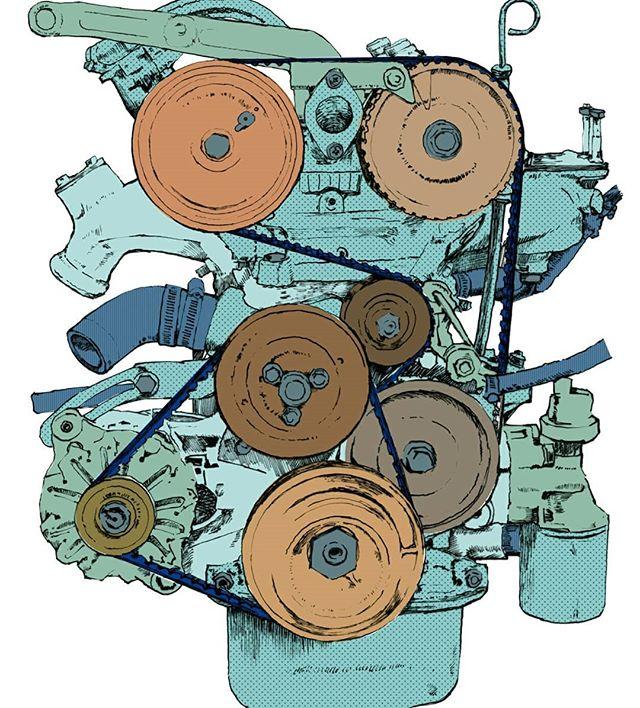 FIAT 124 engine .